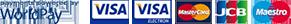 Accepted payments via WorldPay: VISA, MasterCard, JCB, Maestro