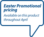 Easter Promotional pricing available on this product throughout April